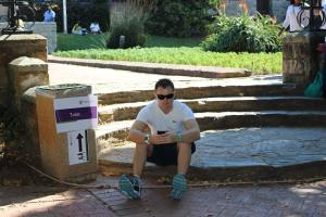 Mountain biker and Makana Green Fun Run runner Vincent Lessing waiting for the race to start.